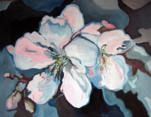 Flor d'ametller. Oli sobre tela. 80x65